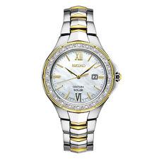 Seiko SUT240 Ladies 24 Diamond Solar Coutura Two Tone Stainless Steel Watch