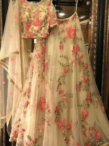 NET Wedding Floral Lehenga Indian Women Bollywood Ethnic Party Wear Lengha Choli