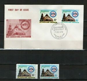 PHILIPPINES 1978 Town of Agoo, La Union - 4th Centenary SPECIMEN Stamps + FDC