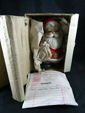 "NIB Vintage HOMCO 6610 Ceramic Christmas Santa Claus Coin Bank ~ 6.0"" Tall"