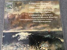 OTTO KLEMPERER/ CHRISTA LUDWIG/ GERALD MOORE/ BRAHMS/ WAGNER LP EMI