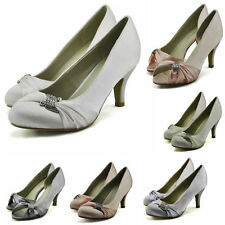 Women's Synthetic Leather Bridal or Wedding Mid Heel (1.5-3 in.) Shoes