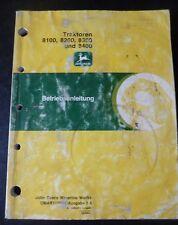 John Deere tracteurs 8100 8200 8300 8400 instructions