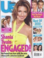 Us Weekly Magazine Shania Twain Scarlett Johansson Ryan Reynolds Best Of 2010