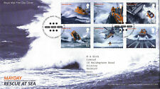 13 MARCH 2008 MAYDAY RESCUE AT SEA ROYAL MAIL FIRST DAY COVER BUREAU SHS