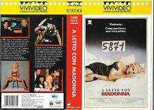 A LETTO CON MADONNA (1991) vhs ex noleggio