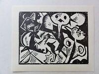 Georg Tappert (1880-1957) Kunstdruck vom Linolschnitt von 1919: Puppen