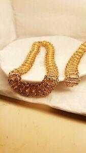 Dubai crystal Schmuck Set Halskette Armband