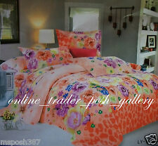 "ELEGANT SUMMER FLORAL 3IN1 48"" SEMI-DOUBLE SIZE BEDSHEET SET NEW"
