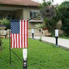 1Set Garden Flag Pole Stand Rubber Stopper Flower Shape Stoppers Rubber D2P2