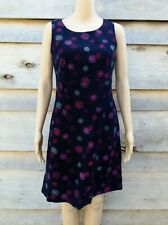 Vintage Black Snowflake Soft Cord Dress Small by Laura Ashley (M26) A-Line