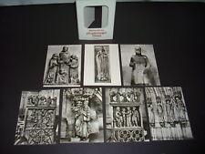 Bildwerke des Magdeburger Doms, 7 Fotos in Postkarten Größe, Sammelmappe, DDR