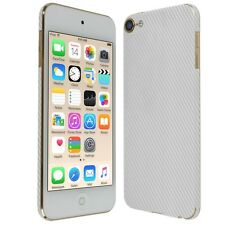 Skinomi Silver Carbon Fib Skin+Screen Protector For Apple iPod Touch 6 (6th Gen)