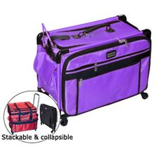 Tutto Purple 28 Inch Sewing Embroidery Machine Trolley Case On Wheels New
