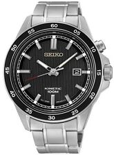 SEIKO SKA641P1 Kinetic Stainless Steel Black Dial WR100m Men's Date 1Yr Guar