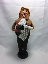 Byers Choice Ltd The Carolers 1989 Caroler With Music Sheet Retired