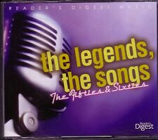 Readers Digest LEGENDS SONGS 4CD 50s 60s KENNY ROGERS FRANKIE LAINE KATE SMITH