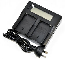 Quick LCD Battery Charger NP-F970 NP-F770 NP-F750 For Sony Camcorder LED Light
