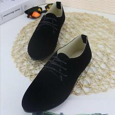 Women's Business Flats Lady Ballerina Microsuede Casual Working OL Nurse Shoes