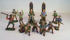 Elastolin / Lineol Masse Figuren Wildwest Konvolut mit 12 Cowboys #130