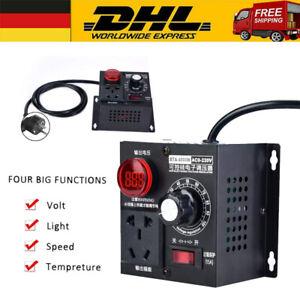 AC SCR Motor Regler 220V Spannungsregler 4000W Drehzahlregler Dimmer Controller