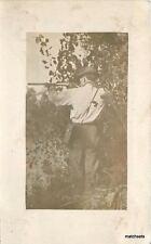 C-1910 Man Rifle Camera Case RPPC Real Photo postcard 2310