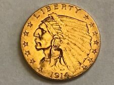 2 1/2 Dollar 1914 USA Gold Indian Head BU (#133#)
