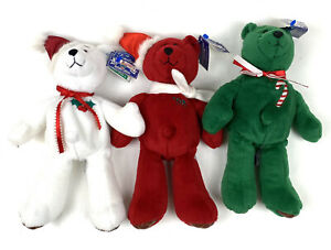 Lot of Three Limited Treasures Holiday Edition 98' Bears Stuffed Collectibles