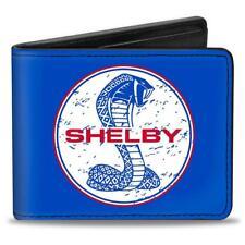 SHELBY Geldbörse ORIGINAL Portemonnaie PU Leder Wallet Cobra Mustang Snake blau