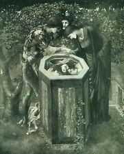 Antique Old Vintage Art Print BALEFUL HEAD Perseus Andromeda Head Witch Medusa