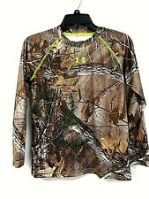 Under Armour 1248473 Boys' Scent Control EVO HG Shirt Realtree Xtra Sz L - 0H_23