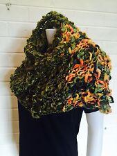 Multi Coloured Boho Hand Knit Scarf