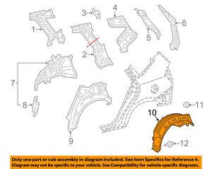 TOYOTA OEM 12-16 Prius V Rear-Fender Liner Splash Shield Right 6563747040