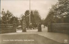 Real photo; Darlington; south park entrance Schwerdtfeger 1914