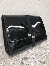 Christian Dior Beauté Black Patent Clutch Cosmetic Bag Purse