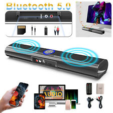 Bluetooth Speaker Sound Bar Remote Wired Wireless Bass Subwoofer Tv Home Theater