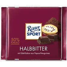 ORIGINAL German Ritter Sport HALBBITTER 50% Cocoa content 100g FREE SHIP