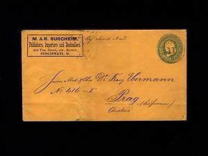 Burgheim Cincinnati By Closed Mail 1c Franklin PSE Cover - Prague Austria 9o