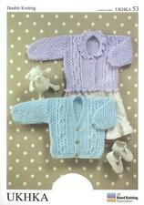 Double Knitting Pattern Cardigans Laine 0 To 6 ans Baby objets 41-66 cm 16-26 in