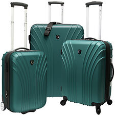 Travelers Choice Cape Verde Green 3-Piece Spinner Rolling Luggage Suitcase Set