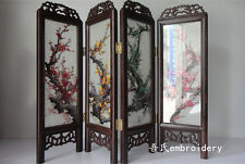 Doll Furniture Large Size Chinese Handmade Silk Embroidery Screen 3 ~ 1:4 Scale