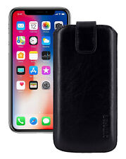 """IPHONE 11 pro 5.8 """" Leather Cover Case Protection Cover Black+Silicone Case"""