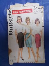 "Vintage sewing pattern 1960s  pencil skirt Butterick 3144 waist 30"""