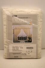 """NOS Vintage Mid Century Sears & Roebuck Insulated Thermal Tweed Drapes 50""""Wx63""""L"""