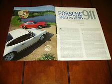1965 PORSCHE 911 vs. 1988 PORSCHE 911  ***ORIGINAL ARTICLE***