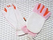 7d2a5f593bf2 GANTS MOUFLES MITAINES polaire Taille enfant BLANC ROSE ORANGE