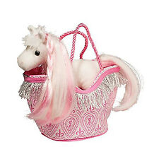 Douglas Toys Pink Princess Sak with White Horse, 7""