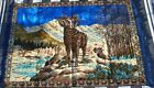 Lebanon Tapestry,Rug,Antique Wall,Bighorn Sheep, Nature,Mountains,Blue,Brown