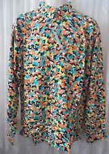 Giorgio  DANIELI Shirt VINTAGE Dress Casual Retro   CONFITI CAMO MEDIUM