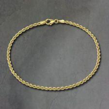Pulseras de joyería de metales preciosos sin piedras de oro amarillo de 18 quilates